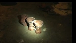 Трипільські горщики у печері Вертеба