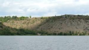 Високі схили Касперівського водосховища на Дністрі