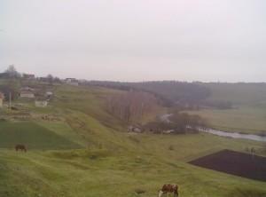 Краєвид над рікою Стрипа на краю замку