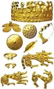 Михалківський скарб, очевидно військова здобич скіфів або фракійців