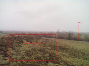 Невеличкий пагорб над рікою - трипільське поселення з пізнішими нашаруваннями