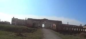 Палац Сангушків, на передньому плані видимий замковий рів