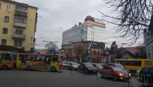 Перехрестя вулиці Дністровської та вулиці Василіянок