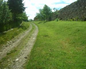 Стіни замку стоять на валу і невисокі