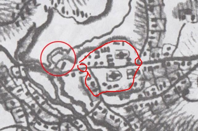 Замок, і міська фортеця - вал, дві брами