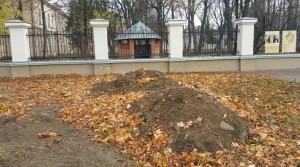 Засипана яма від археологічних розкопок
