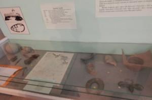Експозиція замкового музею, на стіні - план Олеського замку в давньоруський час