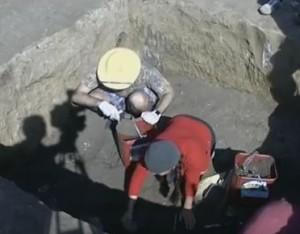 Розкопки скіфського кургану
