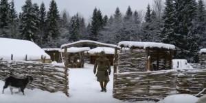Слов'янське селище взимку