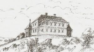 Вигляд замку, перебудованого на палац