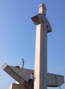 Знак меч і рало в селі Крилос