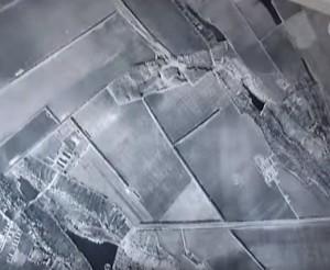 Аерофотозйомка трипільського поселення