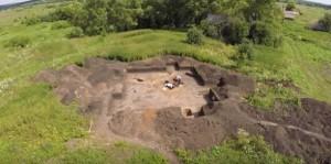 Археологічні розкопки - вид з квадрокоптера