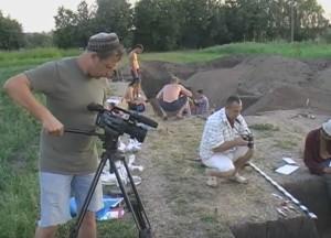 Фото та відеозйомки процесу розкопок
