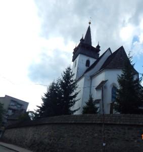 Костел Святої Катерини у Хусті з оборонним муром і баштою