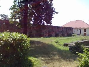 Мури замку в Ужгороді і фундаменти костелу