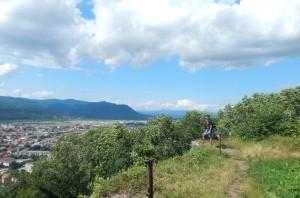 Оглядовий магданчик замкової гори у Хусті
