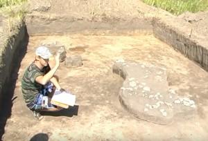 Розкоп житла римського часу