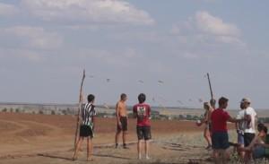 Волейбол після розкопок на археологічній практиці