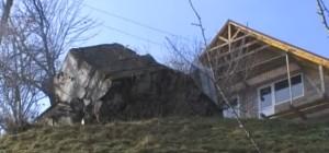 Залишки бункера лінії Арпада на подвір'ї