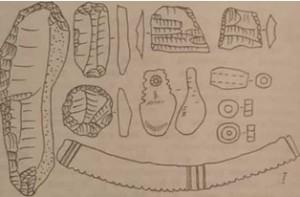 Кістяні та крем'яні знаряддя Азово-Дніпровоської культури