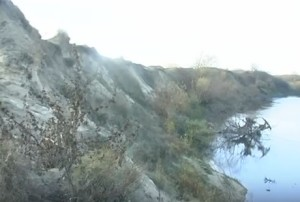 Кручі Бугу на краю городища у Литовежі