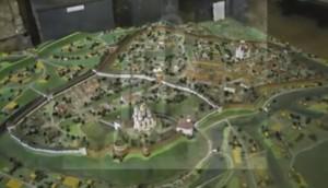 Макет Острозького замку та міських укріплень