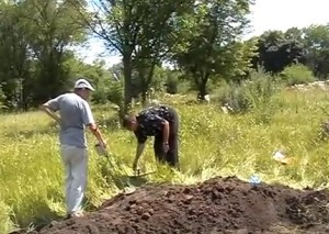 Робота з металодетектором на відвалах розкопу