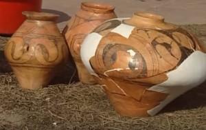 Трипільський посуд для зберігання зерна