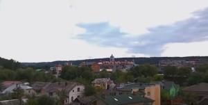 Вид на Чортків із замкової гори