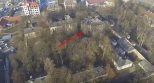Палац Потоцьких в Івано-Франківську, стрілка - найстаріший корпус