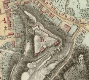 Старостинський замок у Галичі, план