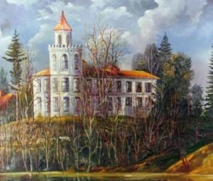 Рожнятівський замок - картина