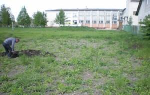 Розкопки біля школи Жидичина, окольне місто городища