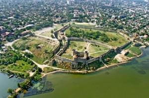 Белгород-Днестровская крепость с высоти птичьего полета