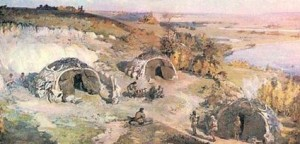 Реконструкція Мізинської стоянки