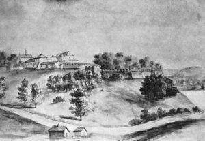 Замок у Старому Олексинці, гравюра Наполеона Орди