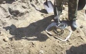Проверка отвалов металлоискателем