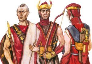 Воины сабатиновской культуры