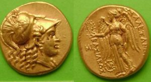 Золотой статер Александра Македонского