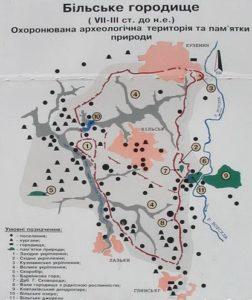 План Більського городища