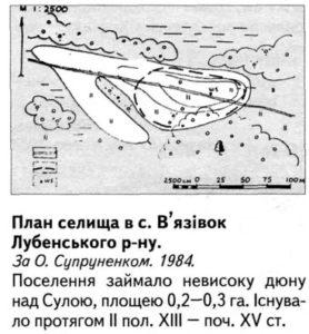 Стародавнє селище в селі В'язівок