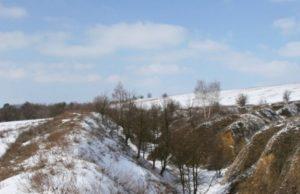 Городище у Великій Бугаївці взимку