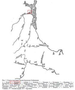 Карта городищ Київщини