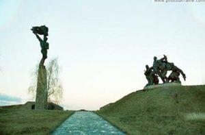 Пам'ятник на Букринському плацдармі у Балико-Щучинці