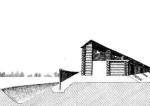 Реконструкція укріплення слов'янського городища