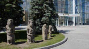 Скульптуры кочевников, найденные на Харьковщине