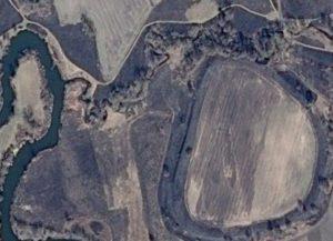 Супутниковий знімок городища біля села Бушеве