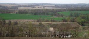 Вид на городище біля села Половецьке