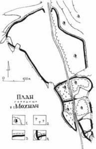 План городища у села Мохнач
